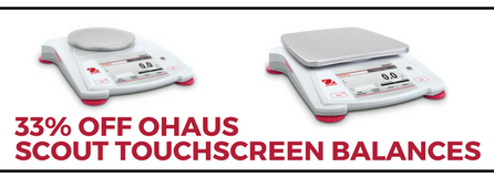 Save 33% on all OHAUS Scout STX balances