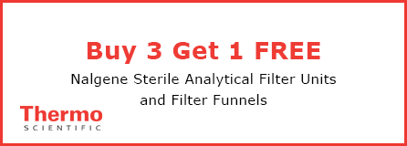 Buy 3 cases of Sterile Analytical Filter Units and Filter Funnels, get 1 case free