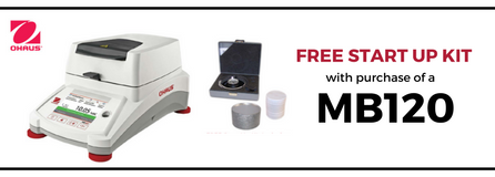 Free Starter Kit with purchase of an MB120 Moisture Balance