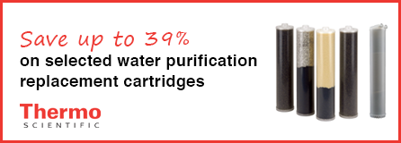 Save up to 39% on selected Thermo Water Purification Replacement Cartridges
